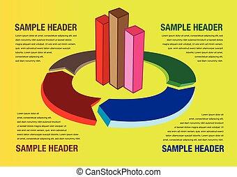 レイアウト, ビジネス, 背景, グラフ, チャート