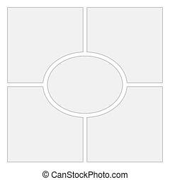 レイアウト, 漫画, バックグラウンド。, ベクトル, 4, テンプレート, 空白のページ
