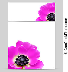レイアウト, 花, デザイン, カード, テンプレート