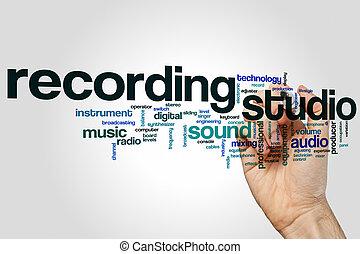 レコーディングスタジオ, 単語, 雲