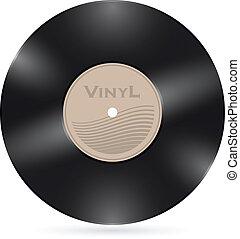 レコード, 白, ビニール, 隔離された