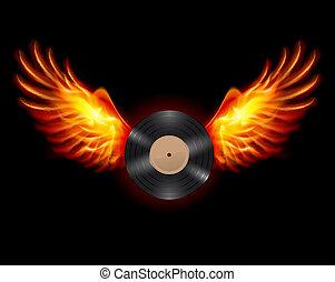レコード, 飛行, ビニール