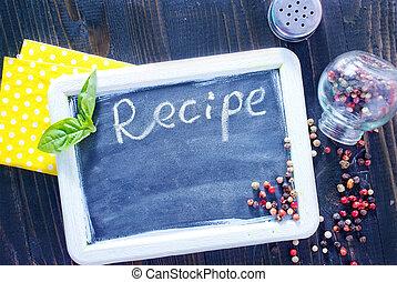 レシピ, 板