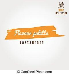 レストラン, バッジ, 要素, 紋章, logotype, バー, カフェ, ∥あるいは∥, ロゴ