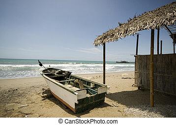 レストラン, 家, sol, 太平洋, ruta, del, 漁船, エクアドル