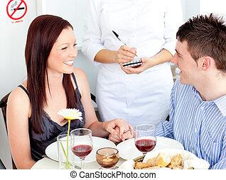 レストラン, 恋人, 若い