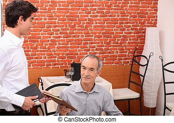 レストラン, 顧客, 命令