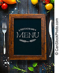 レストラン, 食物, メニュー, デザイン, テンプレート, brochure., カフェ