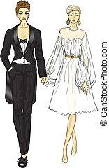 レズビアン, 結婚式