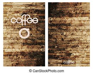レタリング, コーヒー, 背景, 家, 現代, 定型, cups., メニュー, オリジナル