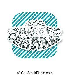 レタリング, デザイン, クリスマス