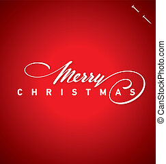レタリング, ベクトル, クリスマス, 手