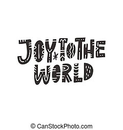 レタリング, 世界, 喜び