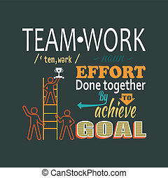 レタリング, 概念, チームワーク, ビジネス