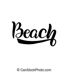レタリング, 浜, ブラシ
