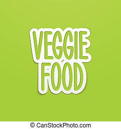 レタリング, 食物, 書かれた, veggie, calligraphy., ベクトル, 手
