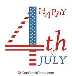 レタリング, greeting-, 旗, 私達, 定型, 色, 7 月4 日, 日, 独立