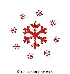 レッドグランジ, 雪, ロゴ
