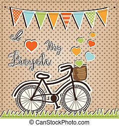 レトロ, ∥あるいは∥, 型, 自転車, ∥で∥, 心