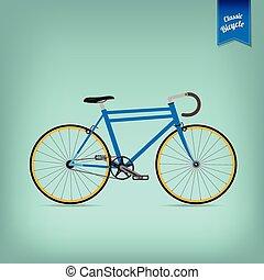 レトロ, イラスト, ベクトル, 自転車