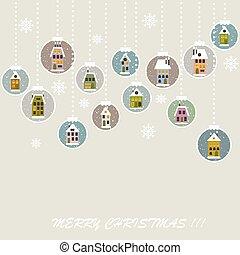 レトロ, クリスマス, 背景, ∥で∥, クリスマス, ボール