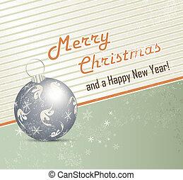 レトロ, クリスマス, 背景