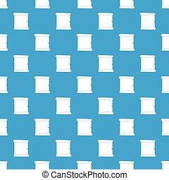 レトロ, スクロール, ペーパー, パターン, seamless, 青