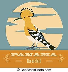 レトロ, パナマ, landmarks., イメージ, スタイルを作られる