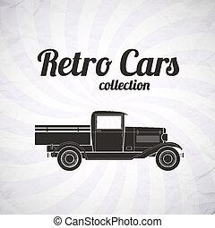 レトロ, ピックアップ, トラック, 自動車, 型, コレクション