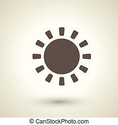 レトロ, 太陽, アイコン, デザイン, 平ら, 要素