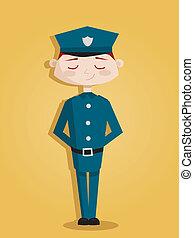 レトロ, 漫画, 警官