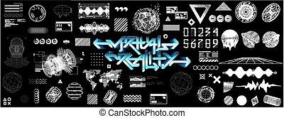 レトロ, cyberpunk, futurism, 概念