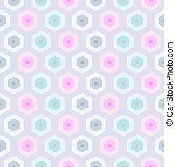 レトロ, seamless, pattern-2, ハチの巣
