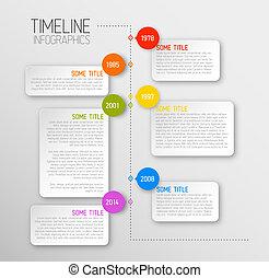 レポート, タイムライン, infographic, テンプレート