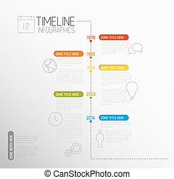 レポート, タイムライン, infographic, テンプレート, ベクトル