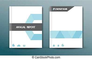 レポート, デザイン, 抽象的, 年報, カバー