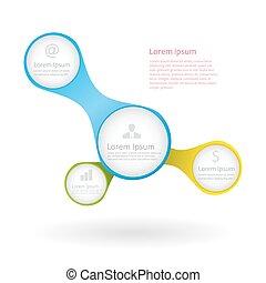 レポート, ベクトル, infographic, テンプレート