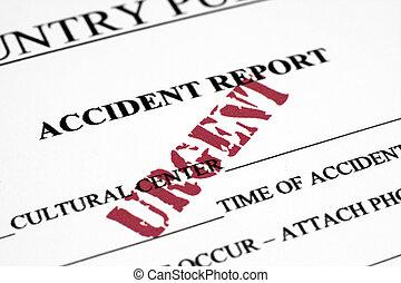 レポート, 事故