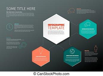 レポート, infographic, テンプレート, ベクトル