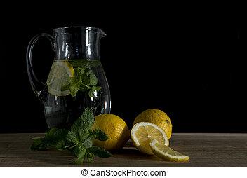 レモン, まだ, レモネード, 作られた, 生活, ミント