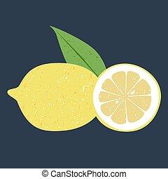 レモン, フルーツ, 芸術, クリップ