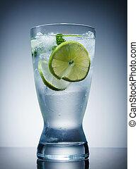 レモン, 冷たい飲み物, ミント, 氷