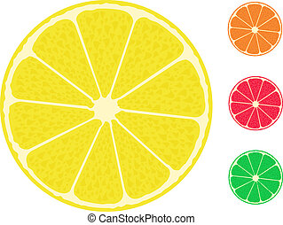 レモン, 柑橘類, fruit., グレープフルーツ, オレンジ, ライム