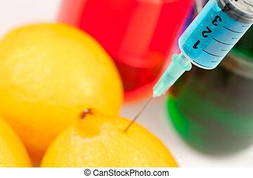 レモン, 液体, 注射すること, スポイト