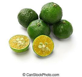 レモン, 皮をむかれた, hirami, タンジェリン, depressa, レモン, 台湾, 平ら, 柑橘類, ...