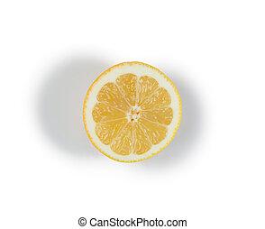 レモン, 黄色, 半分