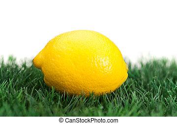 レモン, 黄色, 草