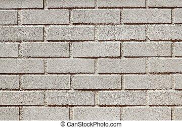 レンガ, コンクリート, brickwall, precast, 白い壁