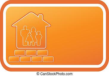 レンガ, 紋章, 黄色の家
