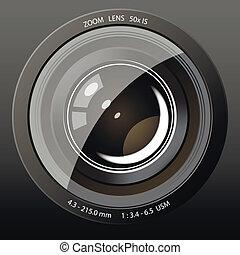 レンズ, カメラ, アイコン